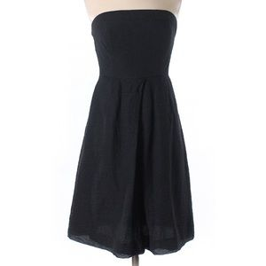 Sz 4 J. Crew 100% cotton strapless black dress